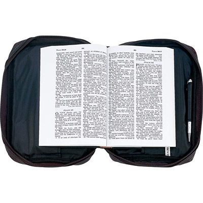 Embossed Alligator Leather Bible Cover - Inside