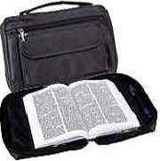 Embassy Italian stone design genuine leather bible cover features one zippered sidepocket. Measures 7x10'x2 1/2