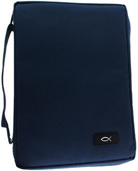 Dark Blue Bible Cover Large