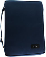 Dark Blue Bible Cover Med, Large