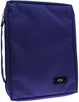 Purple Bible Cover Med, Large