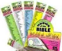 Books of the Bible Ruler. Old and new testiment, straight edge, scalloped edge. Assorted colors only. 4 ruler bookmark,plastic