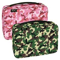 Green or Pink Camouflage Bible Cover