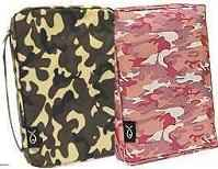 Green or Pink Camouflage Bible Covers