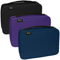 Large Canvas Bible Covers in  in Black, Navy, Purple