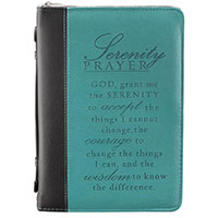 Serenity Prayer LuxLeather Bible Cover