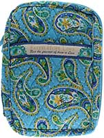 Paisley Blue Quilted Bible Cover