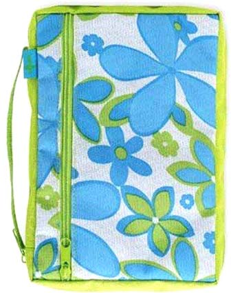 Blue Flowers Bible Cover