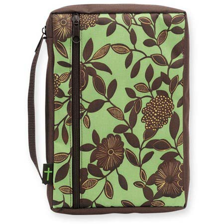 Brown Flowers Bible Cover