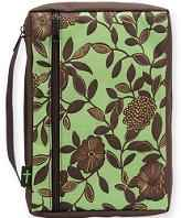 Brown Flowers Bible Covers