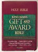 KJV Gift & Award Bible in Black Imitation Leather - Red Letter Edition
