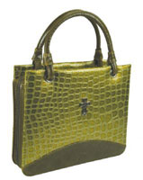 Large designer  Olive Green Croc Bible Purse