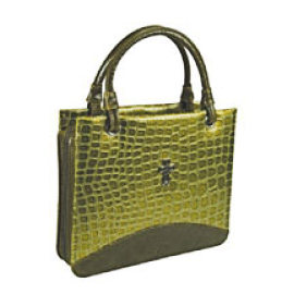 Large Olive Green Croc Bible Purse