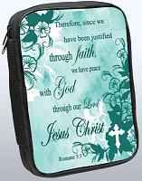 Through Faith Christian Bible Cover Roman 5.1