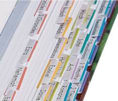 Bible Book Tabs 24 Sets for Sunday Schools