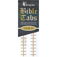 Bible Tabs 8 Sets Bible Study, Families Gold