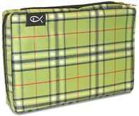 Bible Cover Large Green Plaid