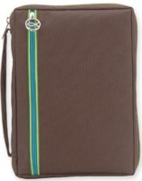 XL Brown Bible Cover With Turquoise Zipper