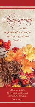 Thanksgiving Bookmark (Pkg of 25)