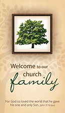 Pew Card: Welcome To Our Church Family (Pkg of 50)