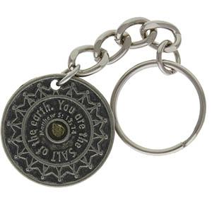 Salt of the Earth Key Chain Pewter