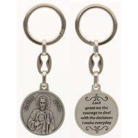 Saint Jude Pewter Keychain