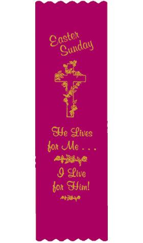 Easter Satin Ribbon Bookmark (Pkg of 10)