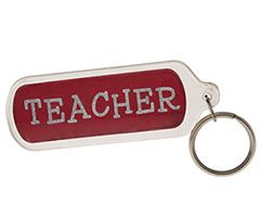 Teacher Lucite Key Chain