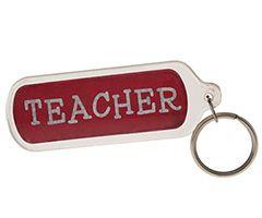 Teacher Lucite Keychain