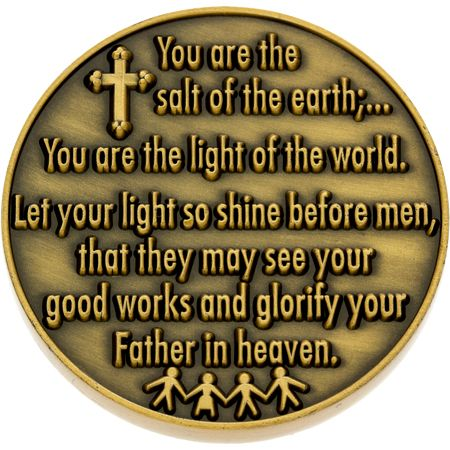Pewter Salt of the Earth Coin Back