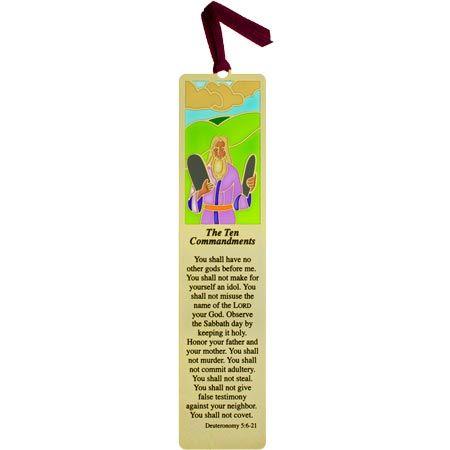 10 Commandments Metal Bookmark