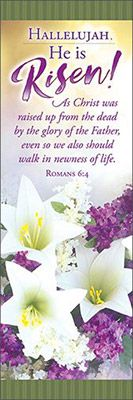 Easter Bookmark - Hallelujah, He is Risen! (Pkg of 25)