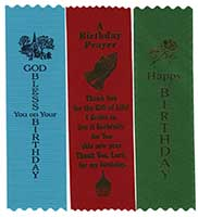 Birthday Ribbons Bless, Prayer (Pkg of 10)