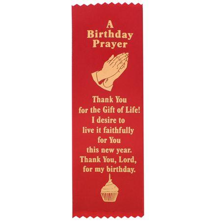 Red Birthday Prayer Ribbon