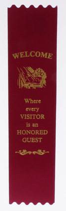 Church Welcome Ribbons (Pkg of 10)