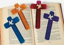 Cross Shaped Ruler Bookmark Plastic