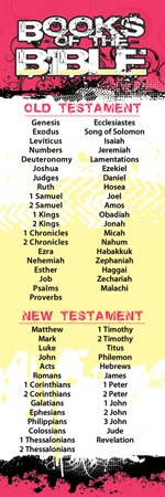 Books of Bible Bookmarks (Pkg of 25)