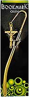 3694 Crucifix on Cross Crook Bookmark Gold