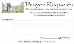 Jesus Santuary Prayer Request Cards
