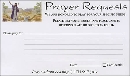 Visitor's Card & Prayer Request Cards (Pkg of 100)