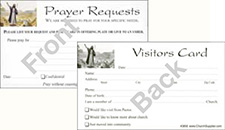 Visitor's  Card and Prayer Request Cards