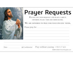 Church Prayer Request Cards (Pkg of 100)