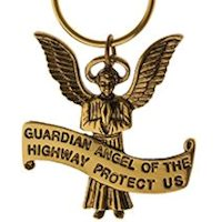 Guardian Angel of Highways Keychain