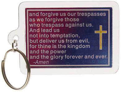 Lord's Prayer Keychain Back