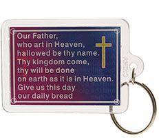 Lord's Prayer Acrylic Keychain