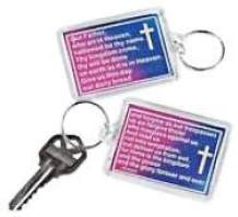 Lord's Prayer Key Chains Acrylic  Key Holder