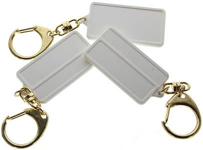 Blank White Plastic Key Tags, Key Chain (Pkg of 12)