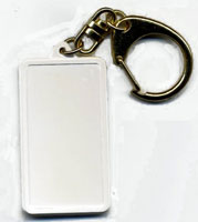 Plastic Key Tags Blank White  (12)