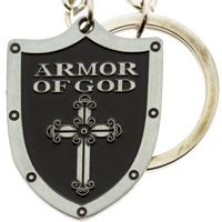 Armor of God Shield Cross Key Chain