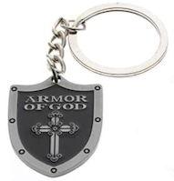Armor of God Shield Cross Key Chain